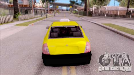 Hyundai Accent Taxi Colombiano для GTA San Andreas вид сзади слева
