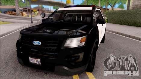 Ford Explorer Police Interception для GTA San Andreas