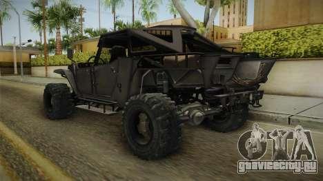 Ghost Recon Wildlands - Unidad AMV No Minigun v1 для GTA San Andreas вид сзади слева