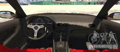 Nissan 240SX BN Sports III для GTA 5 вид сзади слева