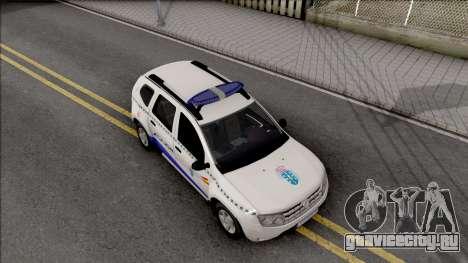 Renault Duster Spanish Police для GTA San Andreas вид справа