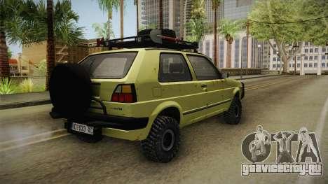 Volkswagen Golf Mk2 Country для GTA San Andreas вид справа