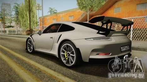 Porsche 911 GT3 RS 2015 для GTA San Andreas вид слева