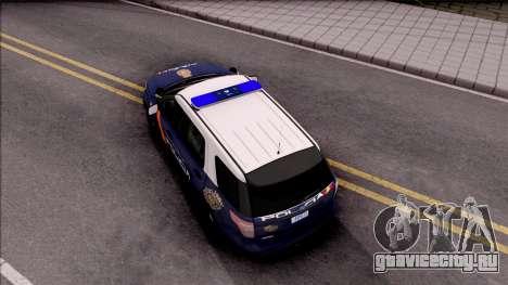 Ford Explorer Spanish Police для GTA San Andreas вид сзади