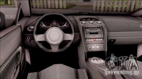 Lamborghini Gallardo Philippines v2 для GTA San Andreas вид изнутри