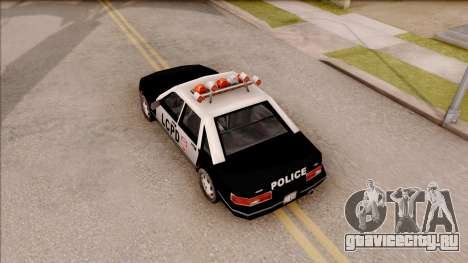 Police Car from GTA 3 для GTA San Andreas вид сзади