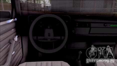 ВАЗ 21046 для GTA San Andreas вид изнутри