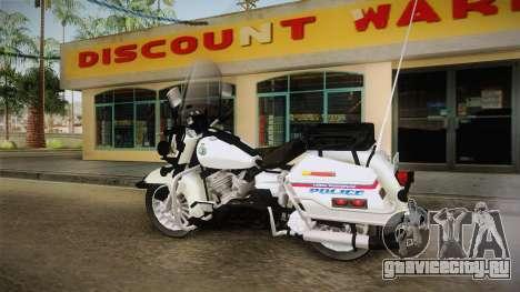 Harley-Davidson Police Bike YRP для GTA San Andreas вид слева
