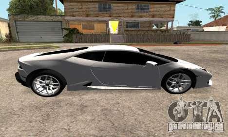 Lamborghini Huracan 2014 Armenian для GTA San Andreas вид сзади