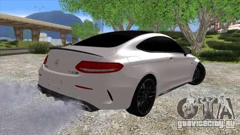 Mercedes-Benz C63 Coupe для GTA San Andreas вид слева