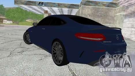 Mercedes-Benz C63 Coupe Rashid Edition для GTA San Andreas вид слева