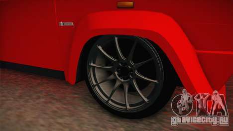 Fiat 131 Abarth для GTA San Andreas вид сзади