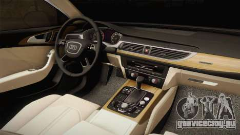 Audi RS7 для GTA San Andreas вид изнутри
