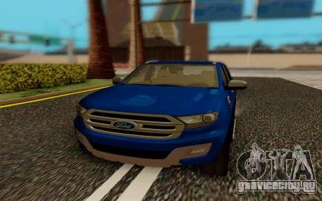 Ford Everest 2017 для GTA San Andreas вид сзади