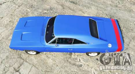 Dodge Charger RT (XS29) 1969 v1.2 [add-on] для GTA 5 вид сзади