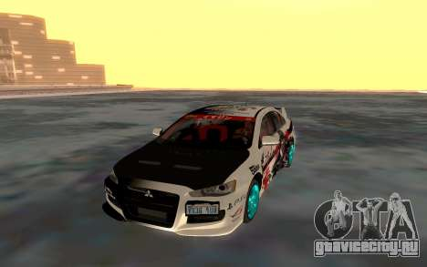 Mitsubishi Lancer Evolution для GTA San Andreas вид сзади