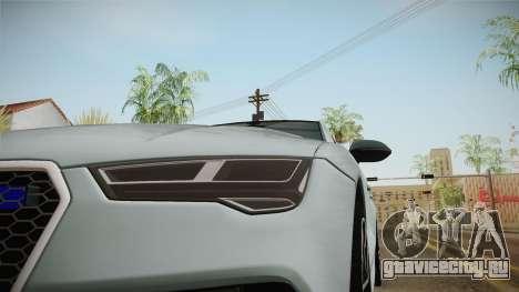 Audi RS7 для GTA San Andreas вид сбоку