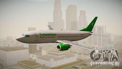 Boeing 737-300 Turkmenistan Airlines для GTA San Andreas вид сзади слева