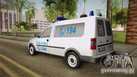 Opel Combo Ambulance для GTA San Andreas вид слева