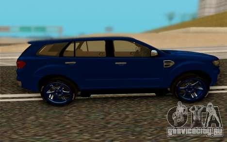 Ford Everest 2017 для GTA San Andreas вид слева