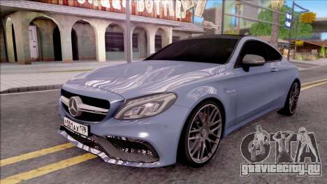 Mercedes-Benz C63S AMG Coupe 2016 v2 для GTA San Andreas