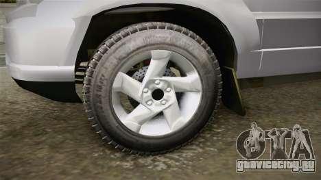 Chevrolet Vitara для GTA San Andreas вид сзади