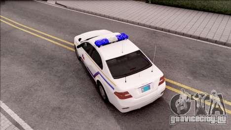 Vapid Police Interceptor Hometown PD 2012 для GTA San Andreas вид сзади