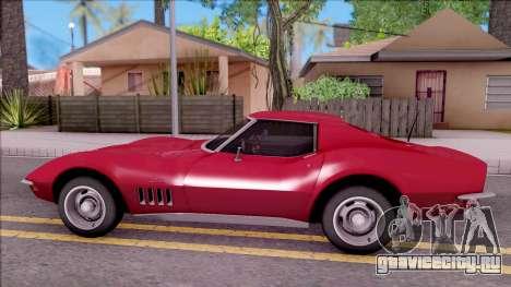 Chevrolet Corvette C3 Stingray для GTA San Andreas вид слева