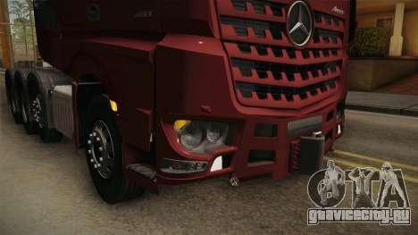 Mercedes-Benz Arocs SLT 4163 8x4 Euro 6 v1 для GTA San Andreas вид сбоку