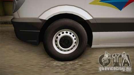 Mecerdes-Benz Sprinter YRP для GTA San Andreas вид сзади