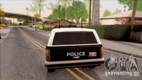 Police Rancher 4 Doors для GTA San Andreas вид сзади слева