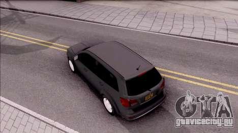 Dodge Journey 2009 для GTA San Andreas вид сзади
