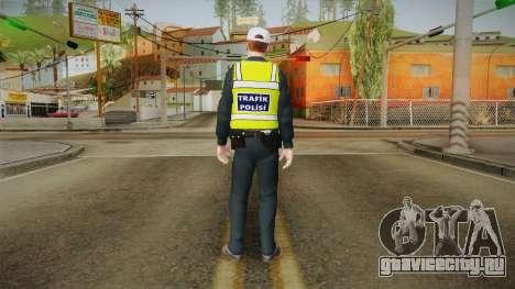 Turkish Traffice Police Officer-Long Sleeves для GTA San Andreas третий скриншот