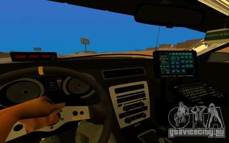 Ford Mustang GT 2015 Police Car для GTA San Andreas вид изнутри