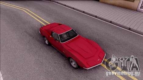 Chevrolet Corvette C3 Stingray для GTA San Andreas вид справа