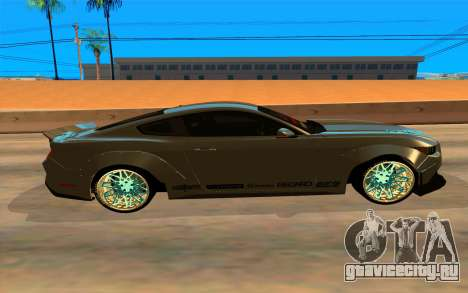 Ford Mustang Azure Inferno для GTA San Andreas вид сзади слева