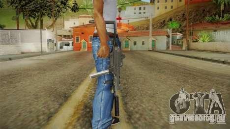 MP5 Grey Chrome для GTA San Andreas третий скриншот