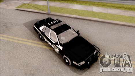 Ford Crown Victoria Central City Police для GTA San Andreas вид справа