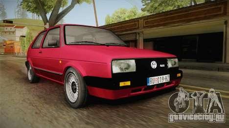 Volkswagen Golf Mk2 J для GTA San Andreas вид справа