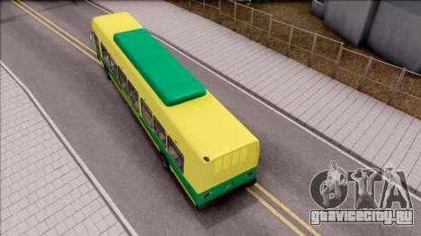 GTA V Brute Bus для GTA San Andreas вид сзади