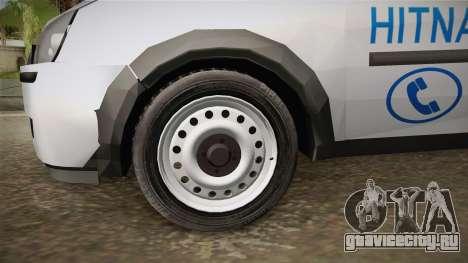 Opel Combo Ambulance для GTA San Andreas вид сзади