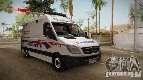 Mecerdes-Benz Sprinter YRP для GTA San Andreas вид сзади слева