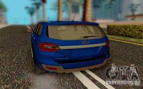 Ford Everest 2017 для GTA San Andreas вид справа