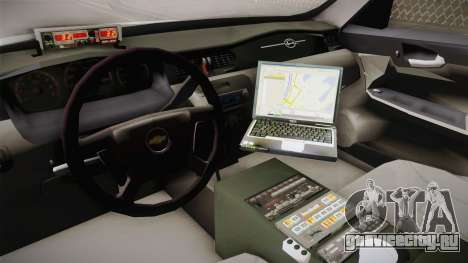 Chevrolet Impala 2006 YRP для GTA San Andreas вид изнутри