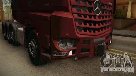 Mercedes-Benz Arocs SLT 4163 8x4 Euro 6 v1 для GTA San Andreas вид изнутри