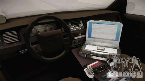 Ford Crown Victoria PI Stealth YRP для GTA San Andreas вид изнутри
