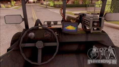 Chenowth FAV from Mercenaries 2: World in Flames для GTA San Andreas вид изнутри