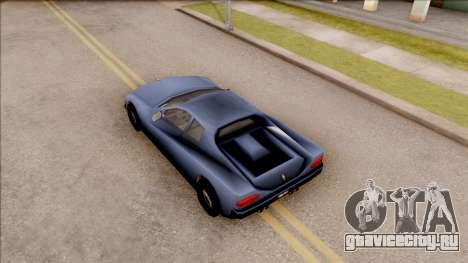 Cheetah from GTA 3 для GTA San Andreas вид сзади
