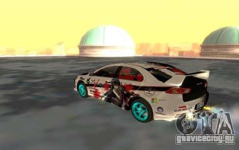 Mitsubishi Lancer Evolution для GTA San Andreas вид сбоку