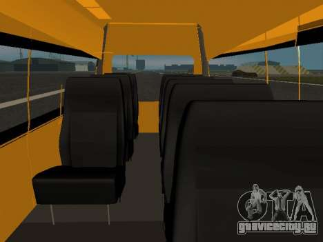 ГАЗ-A65R35 ГАЗель NEXT Маршрутка для GTA San Andreas вид изнутри